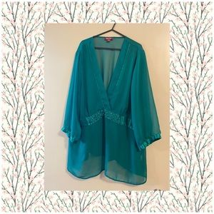 🔥$10 SALE ❄️⛄️❄️Emerald Green Plus Size Top Be Me